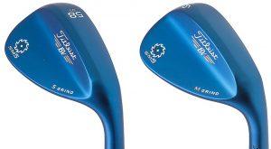 blue golf clubs