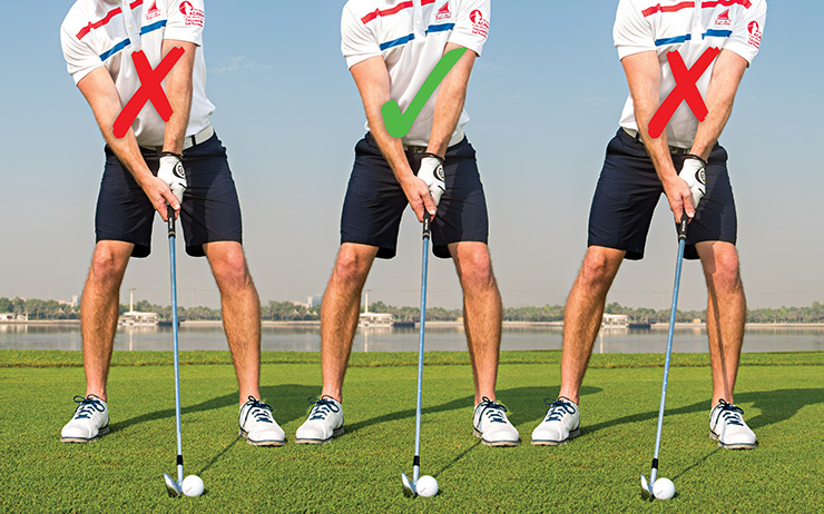 Good Setup Position in Golf